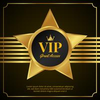 vip pass card design