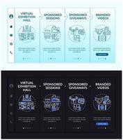 modello di vettore di onboarding per riunioni online sponsorizzate