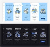 modello di vettore di onboarding di tipi di raccolta online