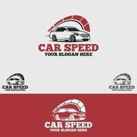 set di modelli di disegno vettoriale logo velocità auto