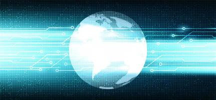 cyber microchip su sfondo tecnologico vettore
