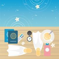 illustrazione vettoriale di accessori estivi