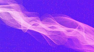 moderna onda sonora digitale con su sfondo ultra violetto vettore