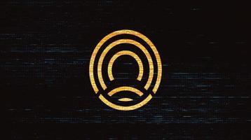 scansione digitale e impronta digitale, concetto di sistema di identificazione della scansione vettore