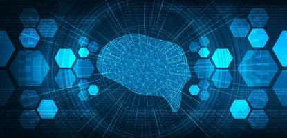 sistema cerebrale digitale sullo sfondo del microchip del circuito tecnologico vettore