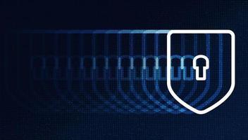 velocità tecnologia digitale scudo sicurezza, protezione e concetto di connessione sfondo vettore