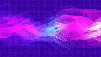 viola digitale onda sonora e onda di terremoto concept design per studio musicale e scienza vettore