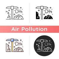 icona di estrazione del carbone vettore