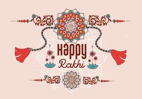 Vettore felice del fondo di Rakhi