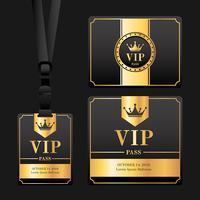 vip pass card vector
