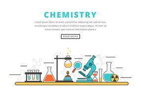 Illustrazione vettoriale di laboratorio di chimica
