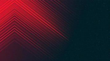 sfondo rosso e blu di tecnologia vettore