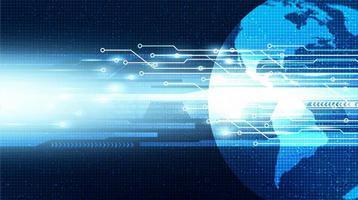 velocità della rete di sicurezza digitale sullo sfondo della tecnologia globale vettore