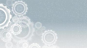 ingranaggi informatici su sfondo grigio tecnologia vettore