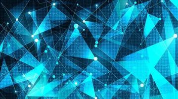 tecnologia di linea di rete futuristica su sfondo di microchip vettore