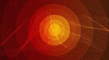 cerchio arancione onda sonora digitale vettore