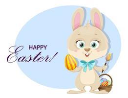 auguri di buona Pasqua. simpatico coniglietto vettore