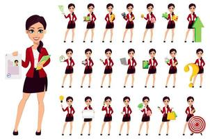personaggio dei cartoni animati di donna d'affari. bella donna vettore
