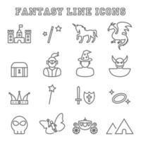 icone di linea di fantasia vettore