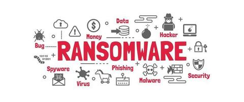 banner vettoriale ransomware