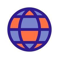 icona di contorno del globo. elemento vettoriale dal set, dedicato a big data e machine learning.