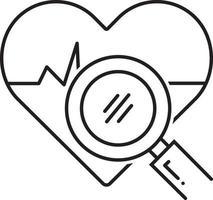 icona della linea per l'analisi della salute vettore
