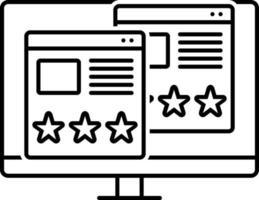 icona linea per la valutazione dell'usabilità vettore