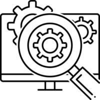 icona della linea per l'analisi funzionale vettore