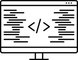 icona linea per la codifica vettore