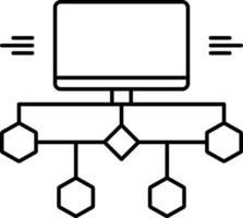 icona linea per diagramma di flusso vettore