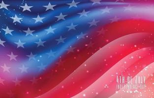 4 luglio giorno dell'indipendenza usa bandiera sfondo vettore