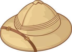 illustrazione vettoriale di cappello safari