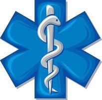 simbolo del serpente medico vettore
