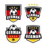 Toppa di logo di calcio tedesco vettore