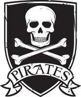 simbolo o emblema dei pirati vettore