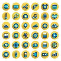 vettore imposta icona dispositivo digitale