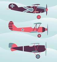 Pacchetto di vettore biplano