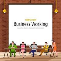 illustrare il lavoro di affari vettore