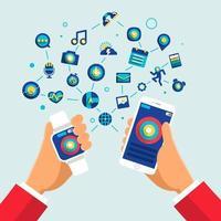 illustrazioni di icona del dispositivo smartwatch vettore