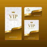 Vettore del modello di pass VIP
