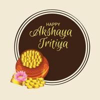 festival della bandiera di celebrazione di akshaya tritiya vettore
