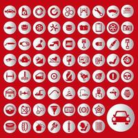 servizio di auto icona vettore