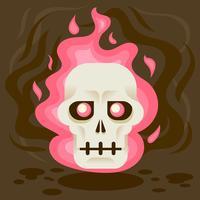 Illustrazione del cranio fiammeggiante