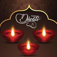 diwali festival of light illustrazione vettoriale di diwali diya