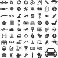 vettore imposta icona servizio auto
