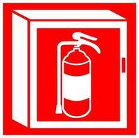 segno di simbolo del gabinetto del fuoco isolato su fondo bianco, illustrazione eps.10 di vettore