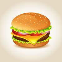 Realistico vettore di hamburger