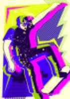 skateboard pop art vettore
