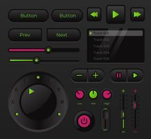 Controllo della UI della musica audio moderna vettore
