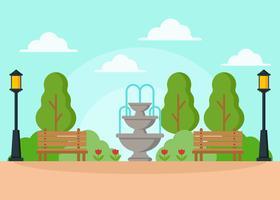 Vettore dell'illustrazione della fontana